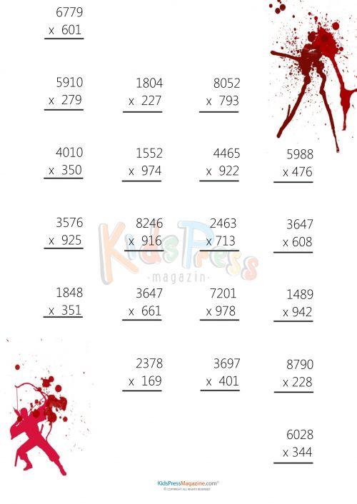 107 Best Multiplication Practice Worksheets & Bundles Images On