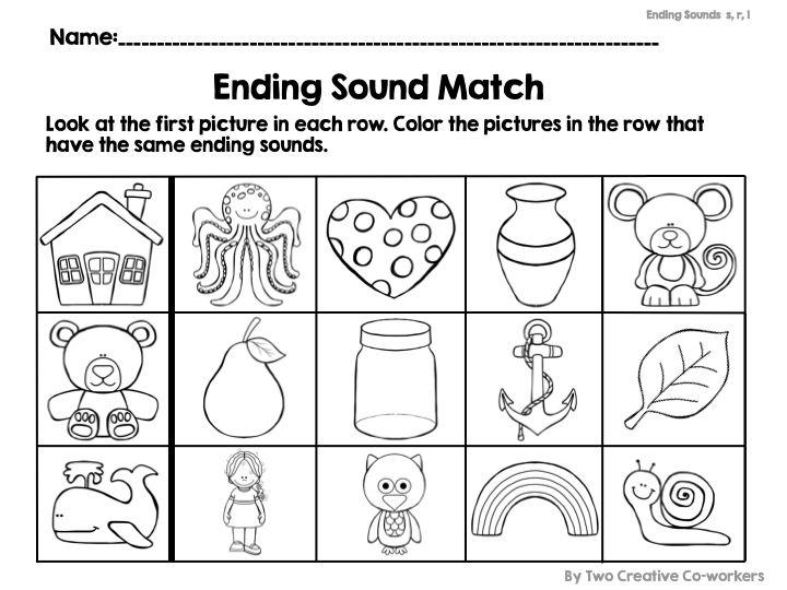 13 Best Ending Sounds Images On Free Worksheets Samples
