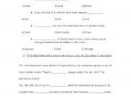 15 Best Images Of Finding Nemo Worksheets With Answer Key, Finding