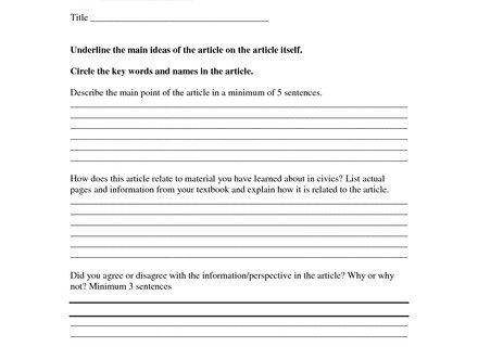 18 Summary Worksheet, Summarization Test Printable Worksheet With
