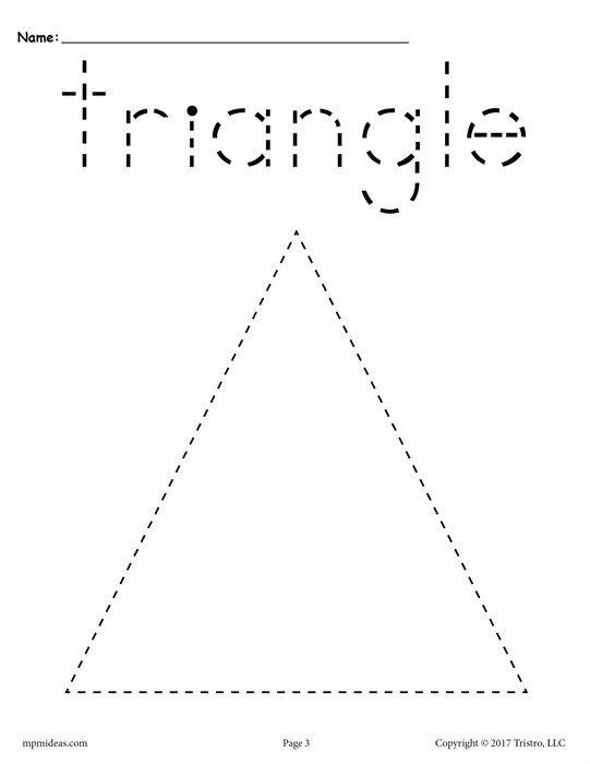 20 Free Preschool Triangle Worksheets & Printables