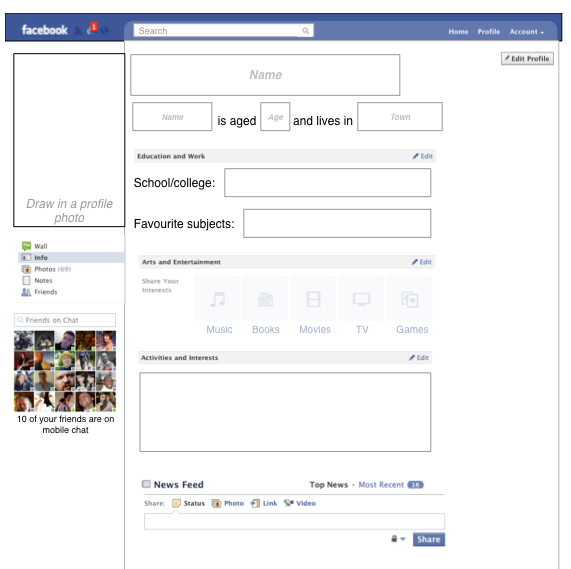 27 Images Of Blank Facebook Template Fill In