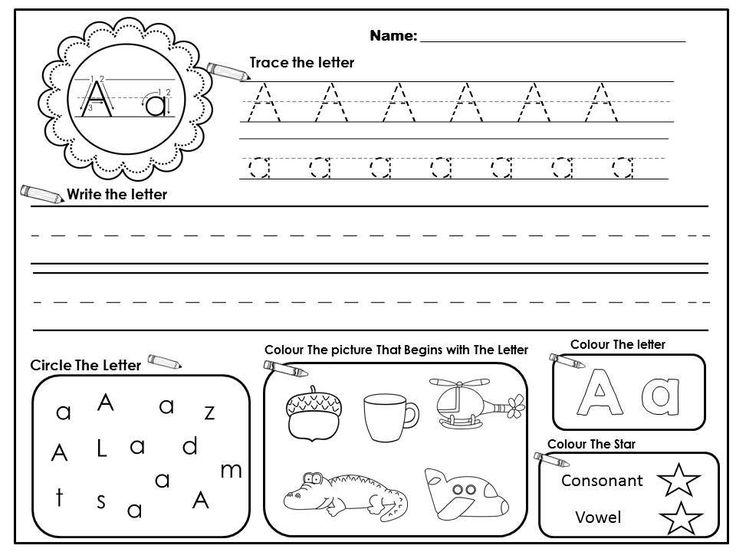 283 Best Alphabet Images On Free Worksheets Samples