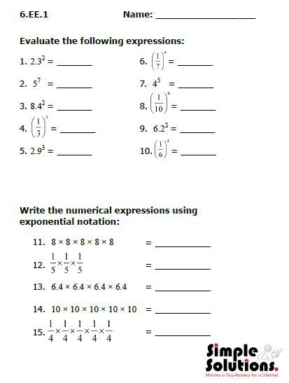 7th Grade Common Core Math Worksheets Free Worksheets Library