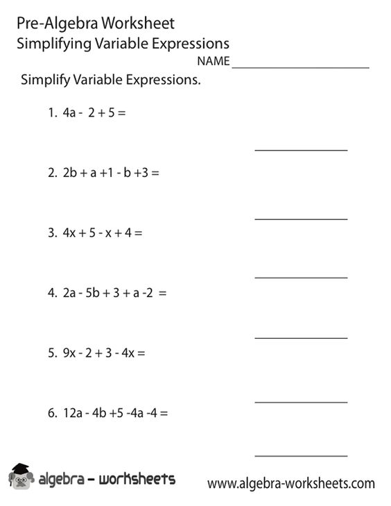 8th Grade Math Worksheets Algebra