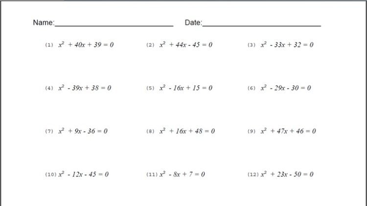 8th Grade Math Worksheets Printable