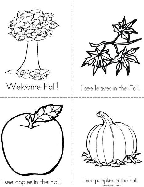 94 Best Autumn Coloring Pages, Worksheets, And Mini Books Images