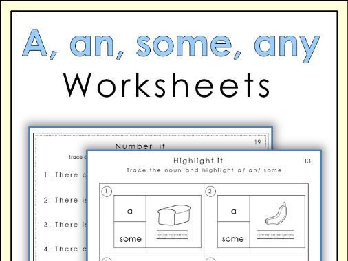 A, An, Some, Any Worksheets By Miss_jelena