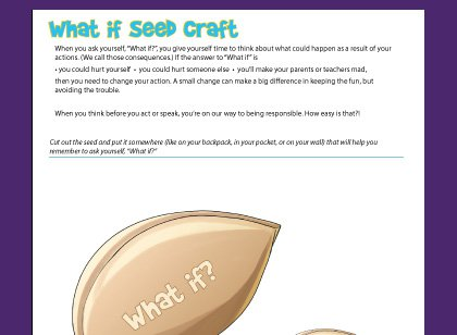 Activity To Teach Children To Think Before They Act  Plant A Seed