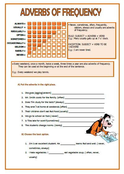 Adverbs Of Frequency Worksheets Free Worksheets Library