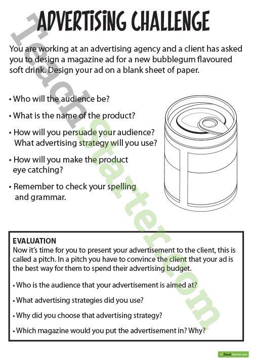 Advertising Resource Pack Teaching Resource – Teach Starter