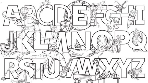 Alphabet Coloring Worksheets Free Worksheets Library