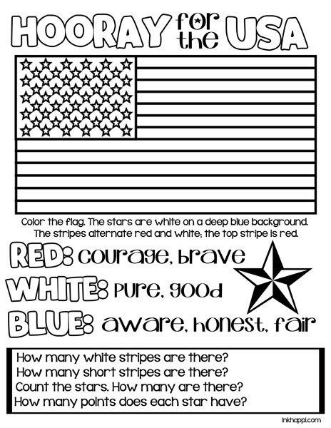 American Flag Worksheets Free Worksheets Library