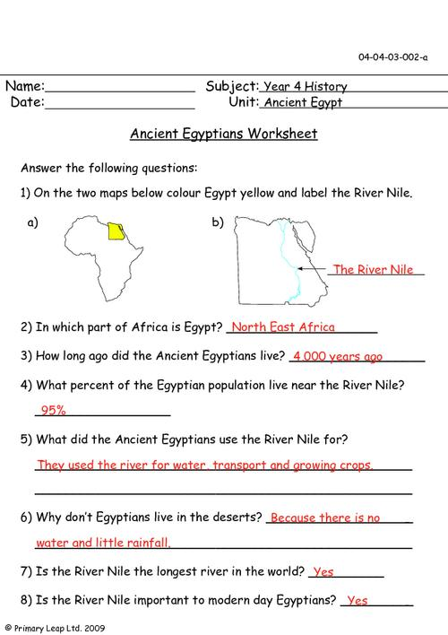Ancient Egypt For Kids Worksheets Free Worksheets Library