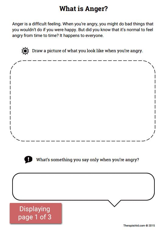 Anger Activity For Children  What Is Anger  (worksheet