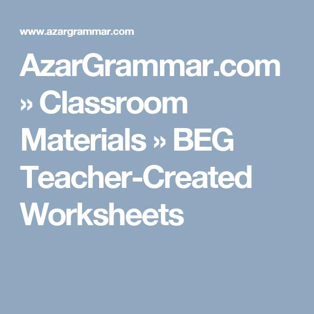 Azargrammar Com » Classroom Materials » Beg Teacher