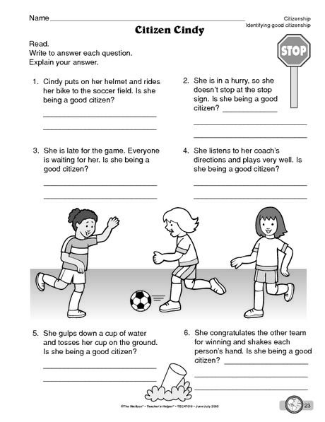 Being A Good Citizen Worksheet Free Worksheets Library