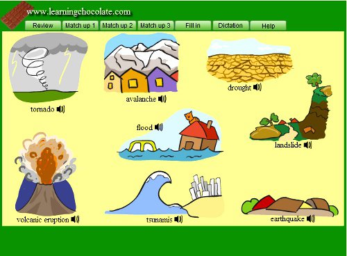 Besbello Tic  Vocabulary  Natural Disasters