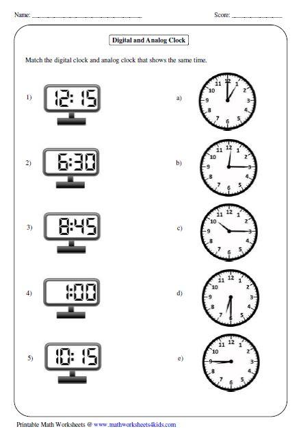 Best 25+ Clock Worksheets Ideas On Free Worksheets Samples