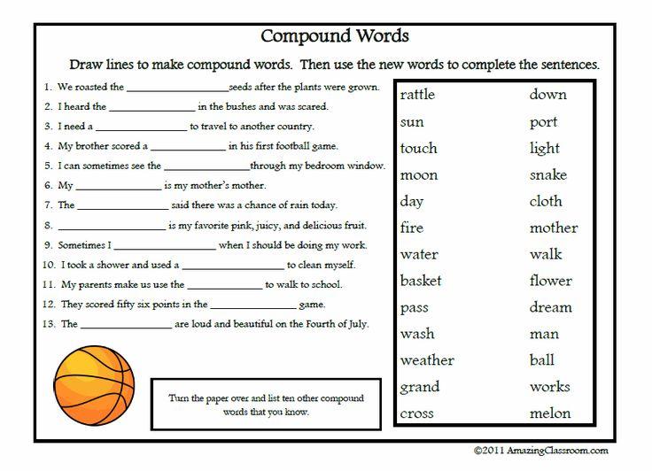 Best 25+ Compound Words Worksheet Ideas On Free Worksheets Samples