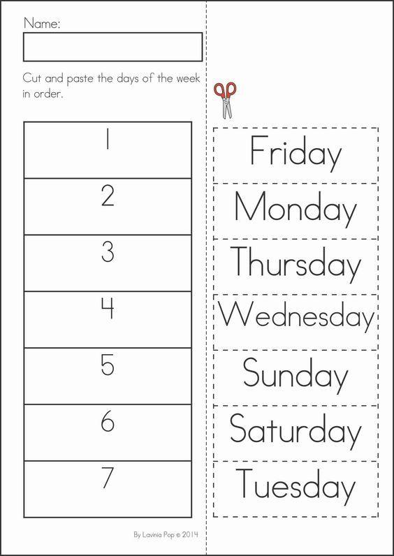Best 25+ Days Of Week Ideas On Free Worksheets Samples