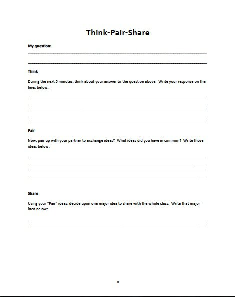 Best 25+ Think Pair Share Ideas On Free Worksheets Samples