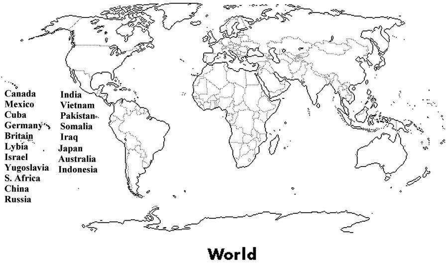 Best Photos Of Blank World Map Sheet