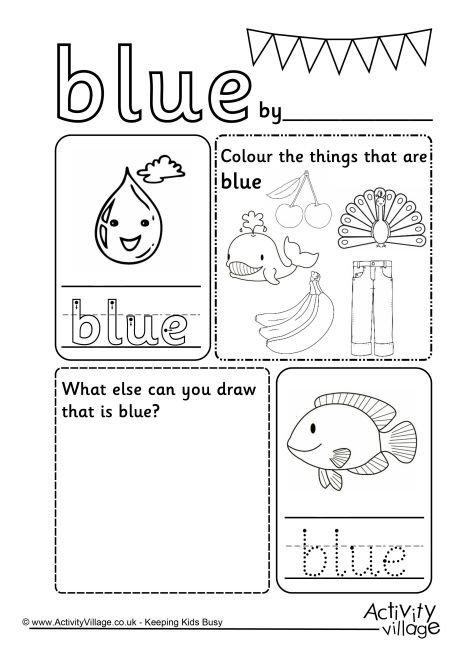 Blue Worksheet