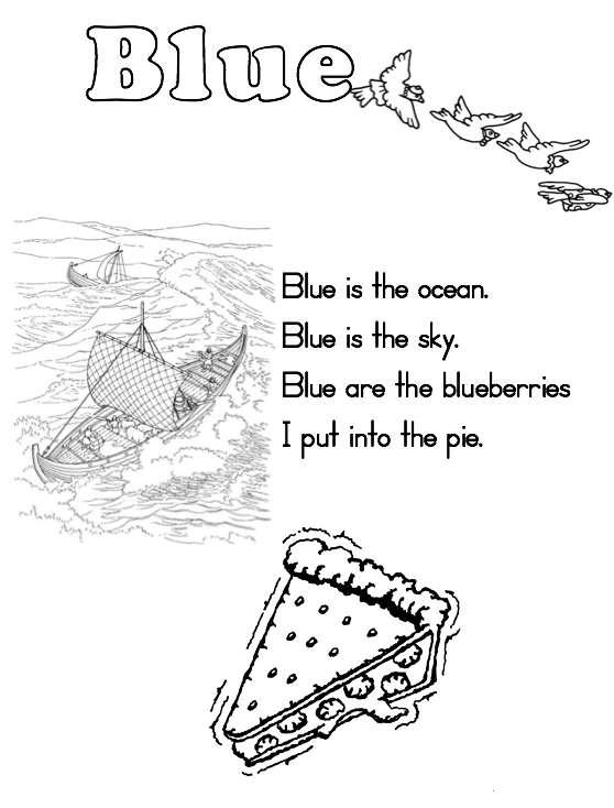 color blue worksheets for preschoolers. Black Bedroom Furniture Sets. Home Design Ideas