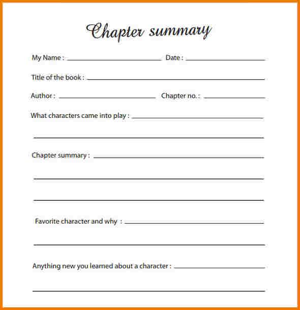 Book Summary Template