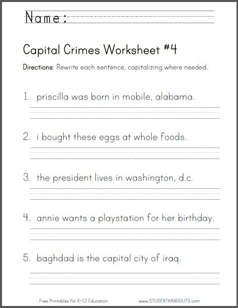 Capital Crimes Worksheet  4
