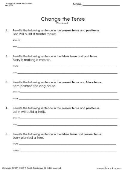 Change The Tense Worksheet 1