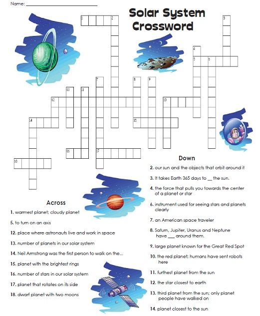 Check Out Our Solar System Crossword Puzzle! Read The Clues And