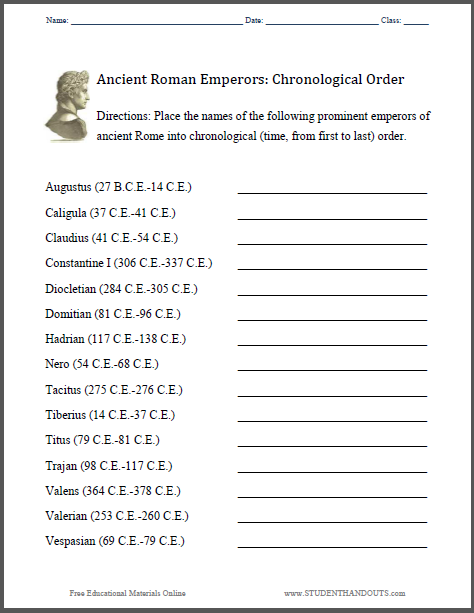 Chronological Order Worksheets Free Worksheets Library