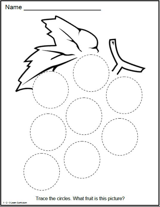 Circle Shape Activity Kindergarten