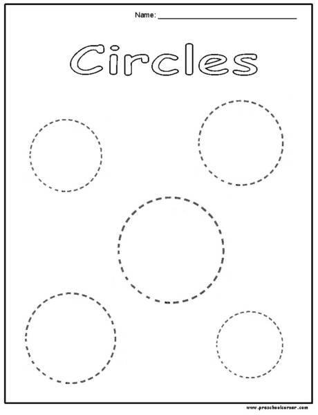 Circle Tracing Preschool Worksheets On Circle Images