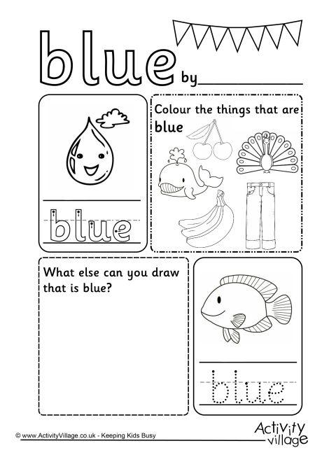 Color Blue Worksheets Free Worksheets Library