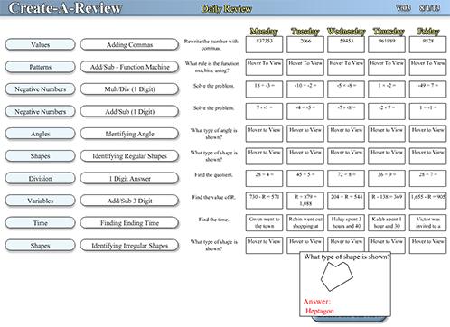 Common Core Sheets