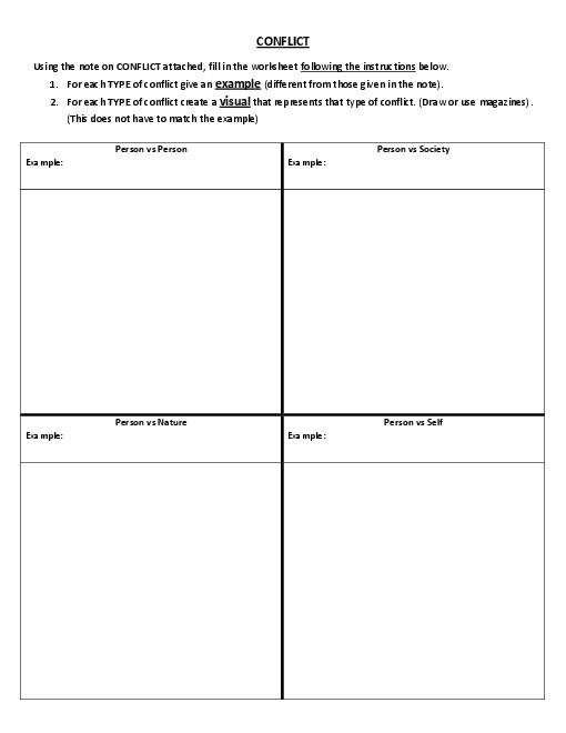 Conflict Note And Worksheet