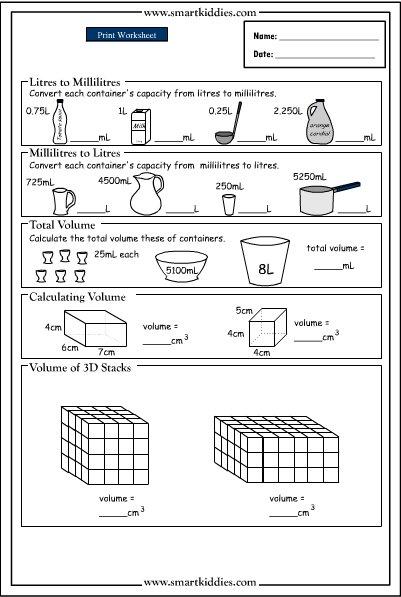 Converting And Calculating Volume, Mathematics Skills Online