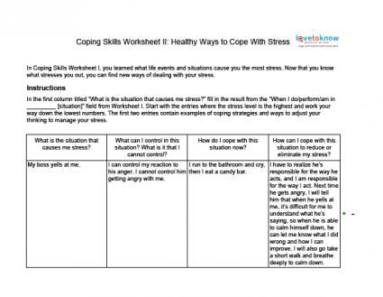Coping With Stress Worksheet Ii