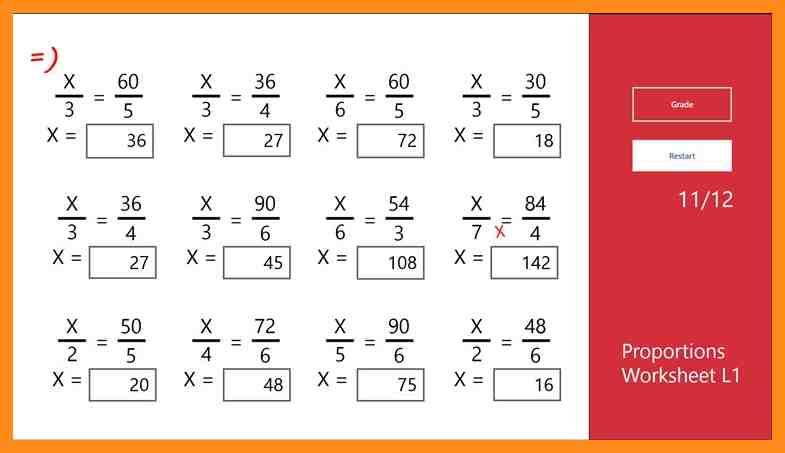 Cross Multiply Worksheets