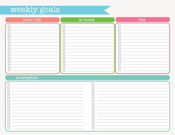 Cross Off Your Health Goals As The Week Goes On!