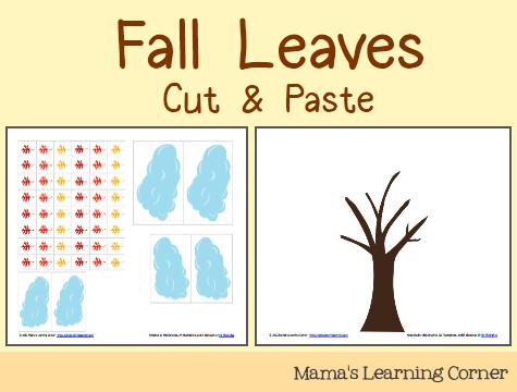 Cut & Paste  Fall Leaves