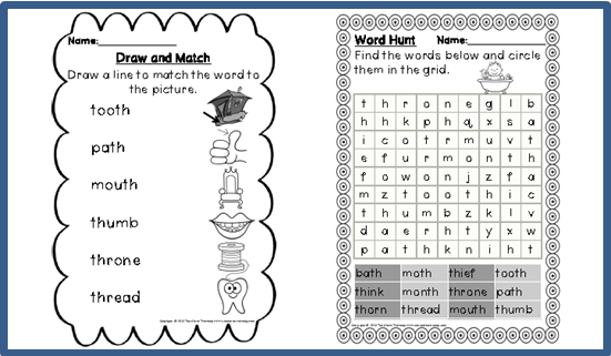 Digraph Th Worksheets Free Worksheets Library