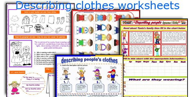 English Teaching Worksheets  Describing Clothes