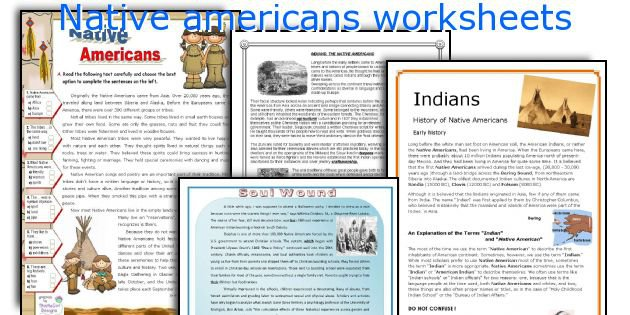 English Teaching Worksheets  Native Americans