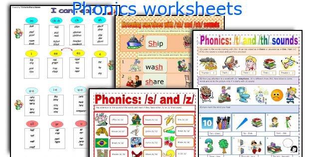 English Teaching Worksheets  Phonics