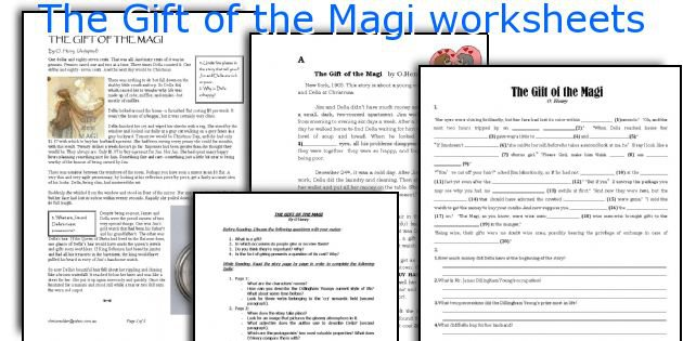 English Teaching Worksheets  The Gift Of The Magi