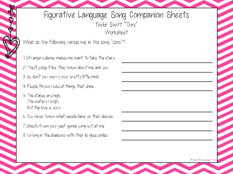 Figurative Language Worksheets For Middle School Free Worksheets